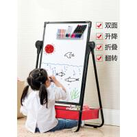 儿童画板可升降支架式小黑板家用双面磁性彩色涂鸦板宝宝写字白板