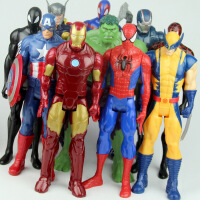 20180928082202271?复仇者联盟3蜘蛛钢铁侠美国队长绿巨人全套玩具可动人偶模型玩具 活动当天发货关节可以活