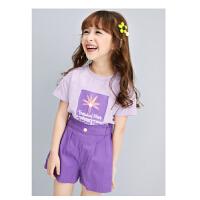 【3件2折价:79】女童套装夏童装2021新款洋气大童衣服宝宝儿童短袖短裤两件套