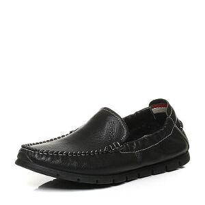 Belle/百丽秋季专柜同款牛皮男休闲鞋豆豆鞋4NP01CM6