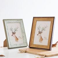 实木复古相框欧式相册摆台 创意7寸挂墙装饰画框照片婚纱照相片框