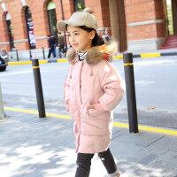 2018新款儿童羽绒服女童中长款童装外套厚中大童品牌