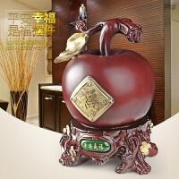 创意礼品可爱储钱罐超大号存钱罐家居风水发财摆件苹果零钱储蓄罐