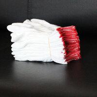 2018新品白色尼龙针劳保手套尼龙手套作业手套薄款贴手工作手套男女