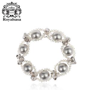 皇家莎莎手链时尚仿水晶手环手工编织饰品情人节送女友礼物