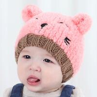 韩版儿童帽子0婴儿3毛线围脖套6宝宝帽子12个月秋冬男女小孩1-2岁 6-48个月