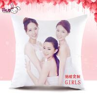 DIY双面可印照片抱枕 私人定制来图定做真人自制女靠枕头创意礼物