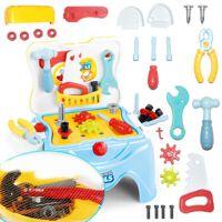 儿童螺丝刀维修理工具台 2-3-5岁男孩子宝宝过家家工具箱玩具套装