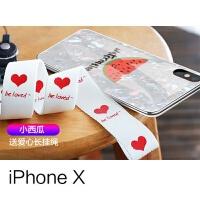 iPhone7plus手机壳硅胶软防摔苹果6splus保护套挂绳全包女款7卡通可爱8日韩网红仙女