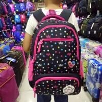 韩版儿童书包小学生女生3-5-4-6三六年级女孩6-12周岁双肩包背包 黑色 大号 适合4-6年级