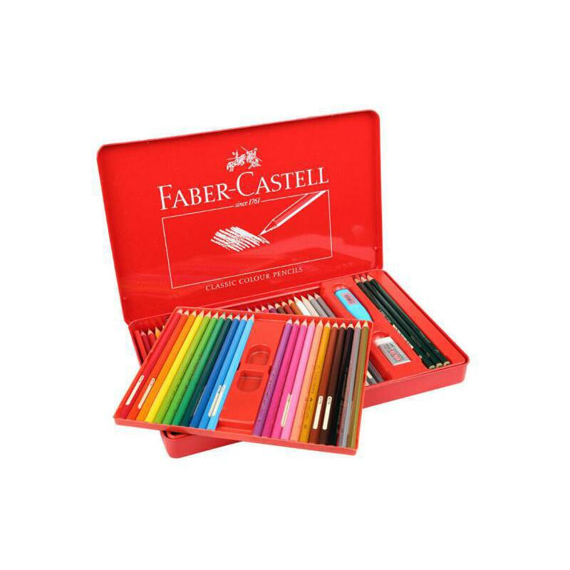 德国辉柏嘉72色48色经典油性彩色铅笔 红盒城堡彩铅笔填色上色铅笔