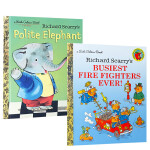 英文原版 Richard Scarry's 理查德斯凯瑞 精装系列4册套装 Polite Elephant/Best