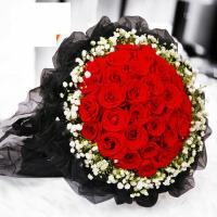 【支持礼品卡】99朵红玫瑰花束鲜花速递北京生日上海广州深圳成都杭州西安同城送 ju1