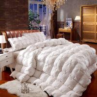 全棉羽绒被95鹅绒被芯被子双人保暖加厚冬被