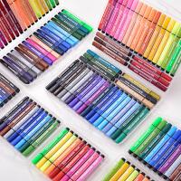 儿童绘画36色可水洗水彩笔套装幼儿园大容量三角杆绘画套装彩笔彩色笔初学者手绘粗杆水彩笔36色水彩画笔