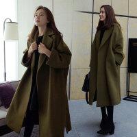 秋冬加肥加大码呢子大衣200斤女胖mm宽松显瘦中长款毛呢风衣外套