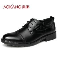 奥康 男士商务正装皮鞋系带尖头男鞋低帮鞋商务鞋婚鞋子