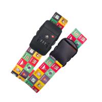 出国旅行箱拉杆箱捆扎带 行李箱打包带 十字捆绑带一字密码海关锁
