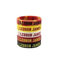 运动配饰篮球手环詹姆斯休闲励志荧光手腕带运动手环白色夜光情侣篮球球迷用品周边纪念品