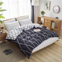斜纹被套冬季简约加厚双人床上被套单件200x230x250订制