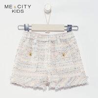 【1件4折到手价:98】米喜迪mecity童装2019春新款女童小香风短裤甜美气质外穿短裤