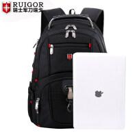 瑞戈瑞士军刀商务双肩包男瑞士出差多功能电脑包背包大容量旅行包