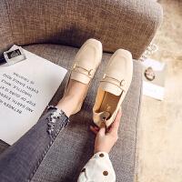 2018新款韩版豆豆鞋女晚晚鞋大码平底鞋网红单鞋百搭小皮鞋