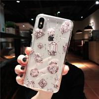 xr网红铂金瓶子iphone xs max苹果x手机壳8plus个性7仙女6s时尚软 6/6s小屏 (滴胶-全屏钻石)