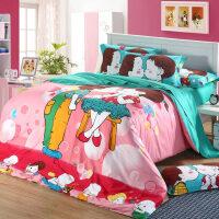 纯棉三四件套全棉婚庆卡通3D床单床笠被套结婚床上用品情侣韩式