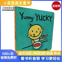 #进口英文原版绘本 Yummy Yucky美味的,难吃的 一根毛小毛孩小脏孩系列 知名作家Leslie Patricel