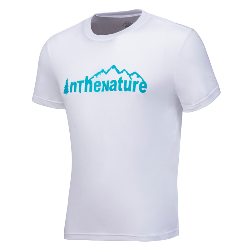 361度男装户外圆领短T恤夏季新款男子修身野外短袖衫