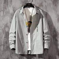 【一件一折69元】男士长袖衬衫韩版潮流2020新款秋季薄款休闲宽松上衣外套男装