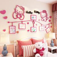 hellokitty猫亚克力3d立体墙贴画卡通儿童房女孩卧室墙面装饰贴纸