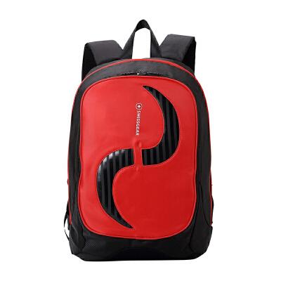 瑞士军刀SWISSGEAR 15.6寸男女减压双肩电脑包图腾时尚休闲笔记本背包