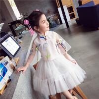 女童连衣裙夏装新品中国风两件套唐装裙古风汉服儿童旗袍裙子