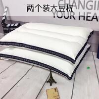???薰衣草刺绣枕芯 纯棉绗绣颈椎枕水洗棉一对枕芯