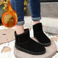 棉鞋女冬季加绒保暖防滑短筒短靴冬季新款棉靴学生百搭雪地靴