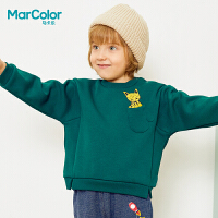 【1件2折】巴拉巴拉旗下马卡乐冬男童卡通时尚上衣罗纹拼接长袖卫衣