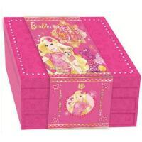 姹紫嫣红芭比新年礼盒 芭比公主童话故事涂色书新年红包对联等11款新意的产品 儿童读物3-4-6-8岁