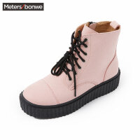 美特斯邦威板鞋女款新款厚底高帮松糕鞋202561商场同款
