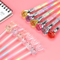 钻石头中性笔彩色多色水性笔学生用糖果色做笔记手账笔0.8水粉笔
