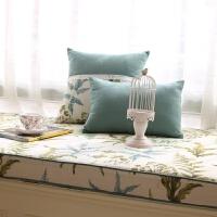 美式乡村飘窗垫定做窗台垫田园榻榻米垫可机洗高密度海绵阳台垫子 花色