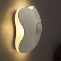 创意USB可充电护眼小台灯 触摸台灯夜晚阅读小说手机小夜灯 充电学生学习护眼灯 电池款 人体感应灯