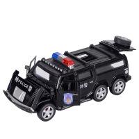 声光回力玩具小汽车越野车儿童礼物悍马合金车模警车模型玩具