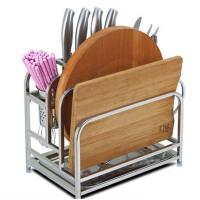 304不锈钢刀架 刀具架子刀座砧板架 菜板菜刀架 厨房用品筷子置物架