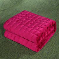 法莱绒床垫床褥子垫被加厚榻榻米珊瑚绒双人1.8m床1.5学生宿舍1.2 加厚剪花-酒红 【法莱绒款】