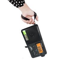 熊猫/PANDA T-04老人FM收音机便携式TF插卡MP3广播放器半导体充电黑色