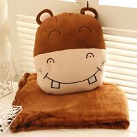 ???卡通午睡枕头被子汽车抱枕被子两用靠垫被大号纯棉空调被靠枕毯子 三合一抱枕含毯子1*1.7米