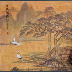 实力派彩墨画家  王红彦   清风舞春雨   /2-66
