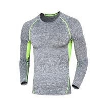 运动服饰新款健身服男夏季上跑步运动休闲T恤健身衣弹力紧身上衣速干排汗透气舒适